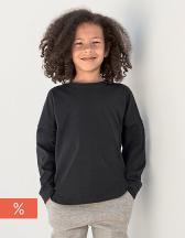 Kids` Drop Shoulder Slogan Top